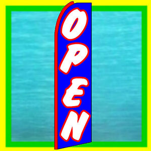 Open Banner Flag Feather Swooper Flutter Bow Advertising Sign