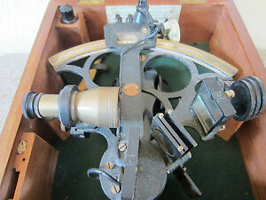 Old Maritime British Sextant Hughes Son