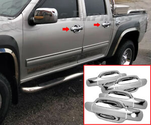 2004 2013 Chevy Colorado Gmc Canyon 4 Chrome Door Handle Covers No Pskh