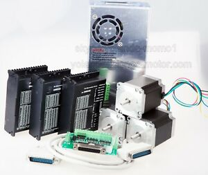 us Ship 3axis Nema 23 Stepper Motor 270oz in driver Dm542a 4 2a Cnc Router
