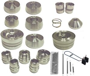 Brake Lathe 1 Silver Adapter Set As9020 New 19 Pcs Cones Backing Plates Etc
