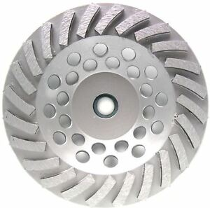 7 Concrete Grinding Cup Wheel 24seg Angle Grinder 10pk