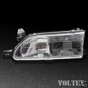 1994 1997 Toyota Corolla Headlight Lamp Clear Lens Halogen Driver Left Side