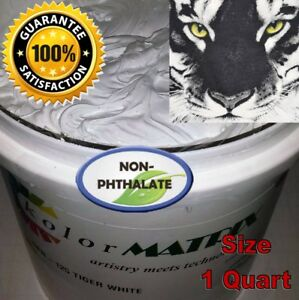 Tiger White Ho Lb Fast Flash Plastisol Non Phthalate Screenprint Ink Quart