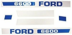 83928530 New Holland Ford Tractor 6600 Hood Decal Set Kit Ebpn16605f
