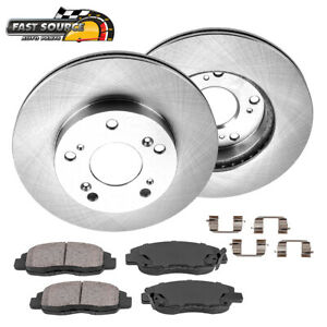 Front Brake Rotors Ceramic Pads For 2006 2007 2008 2009 2010 2011 Honda Civic