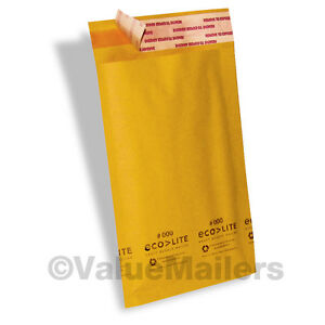 100 000 4x8 Ecolite Kraft Bubble Mailers Padded Envelopes Self Seal Bags