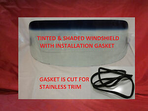 Tint Shade Windshield Glass And Gasket W Chrome 1955 1959 Chevy Gmc Pickup