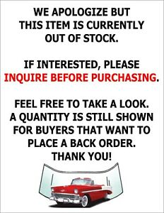Clear Glass 1955 1959 Chevy Pickup Truck Windshield Vent Door Small Back