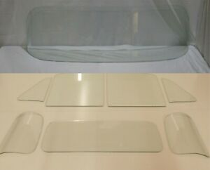 Glass 1954 Chevy Gmc Pickup Truck Windshield Vent Door 3 Piece Back Clear Set