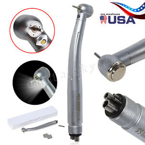 Us Dental Low Slow Speed Handpiece 4 hole Contra Angle Straight Air Motor Kit