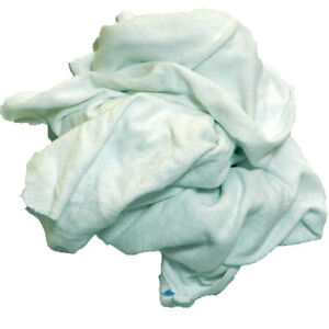 White Knit Rags 25 Lb Box