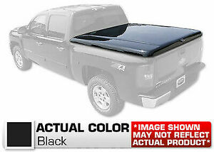 Hard Tonneau Cover Styled Truck Lid Painted Black For Silverado 82 Short Bed