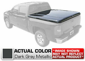 Hard Tonneau Cover Styled Truck Lid Painted Grey For Nissan Frontier Crew 58 bed