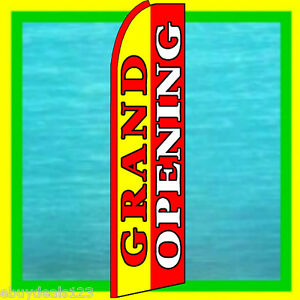 Grand Opening 3 Wide Swooper Flag Advertising Sign Feather Flutter Bow Banner