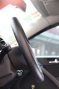 Black Pvc Leather Steering Wheel Stitch Wrap Cover W Needle Thread Diy Fit Fiat