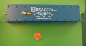 Rf If Microwave Bandpass Filter 1 780 Ghz 21 Mhz Bw Power 10 Watt Cw Data