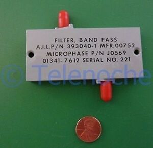 Rf If Microwave Bandpass Filter 3 000 Ghz 1096 Mhz Bw Data Power 5 Watt Cw