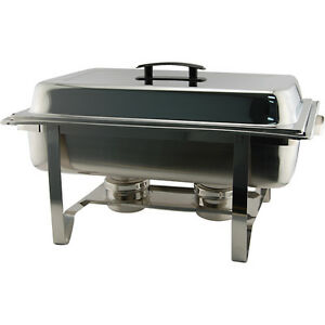 Economy Chafer Pan Food Warmer 8 Qt Concession Banquet Buffet Bar Equipment