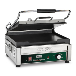 Waring Panini Grill Sandwich Maker Flat Plate Restaurant Concession Equip