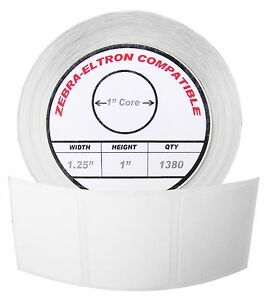 1 Roll 1380 Labels Of 1 25x1 1 1 4 X 1 Direct Thermal Zebra Eltron Labels