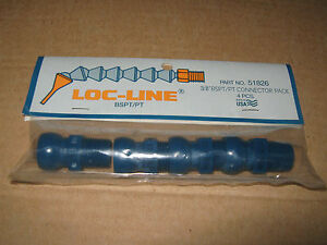Loc line 3 8 Bspt Connector Pack Of 4 Coolant Hose 51826 For Lathe Or Mill