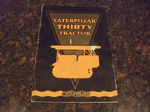 Cat Caterpillar Thirty Tractor Book Catalog Manual 1929