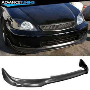 Fits 99 00 Honda Civic Jun Style Pu Front Bumper Lip Spoiler