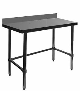 Gsw 24x24x35 Open Base All Stainless Steel Work Table W upturn Nsf Wt pb2424b