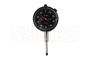 Shars 1 Precision Dial Indicator 001 Agd 2 Graduation Lug Back Black Face