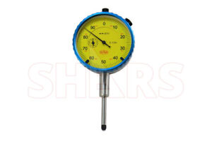 Shars 1 Precision Dial Indicator 001 Agd 2 Graduation Lug Back Yellow New P