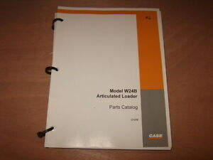 Case W24b Articulated Loader Parts Manual Factory Oem C1216