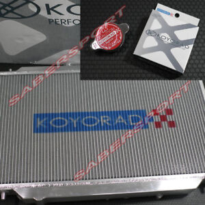 Koyo 36mm V core Aluminum Radiator W Hyper Cap For 2002 2005 Honda Civic Si