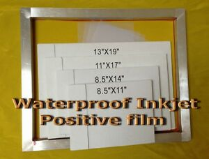 Waterproof Inkjet Transparency Film For Screen Printing11 X 17 100 Sheets 4mil