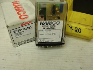 Used Namco Motion Switch 120vac 3 To 60 Rpm Ee891 02103