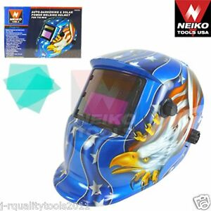 Auto darkening Solar Power Welding Helmet For Tig mig American Eagle