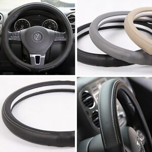 New Black Pvc Leather Steering Wheel Cover Acura Audi A4 Integra 38cm Non Slip