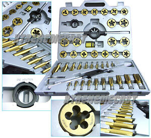 Large 45 Pc Size Mm Metric Tungsten Steel Tap And Die Tool Titanium
