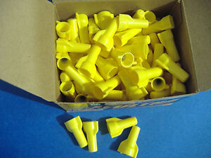 100 Gardner Bender Yellow Wing Gard Wire Connector Conical Nuts