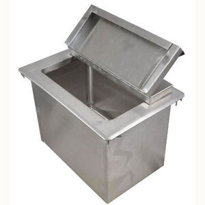 Bk Resources Stainless Steel Drop In Ice Bin With Lid 22 X 18 Bk dibl 2218