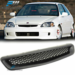 For 96 98 Honda Civic Ek Cx Dx Ex Hx Lx Front Hood Grill Grille T R Abs