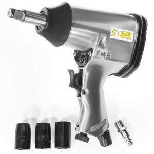 1 2 Air Compressor Impact Gun Wrench W Sockets Long Shank 250 Ft lb Torque Tool