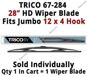 Trico 67 284 Wiper Blade For Rv Bus Coach Commercial Truck 28 Hd 12x4 Hook Arms
