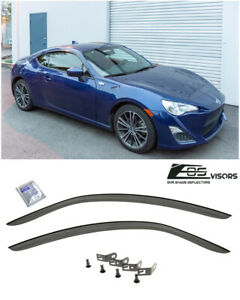 Jdm Clip on Window Visors Rain Guard Deflectors For 13 up Scion Fr s Toyota 86