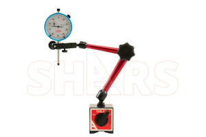 Shars 1 0 001 Dial Indicator Universal Magnetic Base Holder W Fine Adjustment