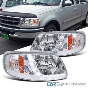 For 97 02 Ford F150 Expedition Smd Led Strip Headlights Signal Lamps Left Right
