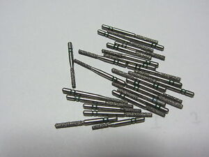 Lot Of 25 Premier Two Striper Dental Cylinder Flat End Diamond Burs Brand New