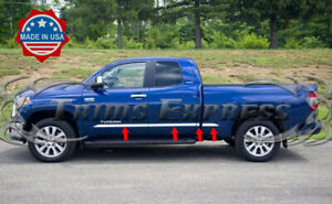 2007 2018 Toyota Tundra Double extended Cab Short Bed Body Side Molding Trim 8pc