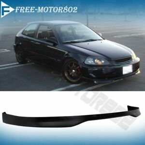 Fit For 96 98 Honda Civic 2 3 4 Dr Type R Tr Jdm Front Bumper Lip Spoiler Wing