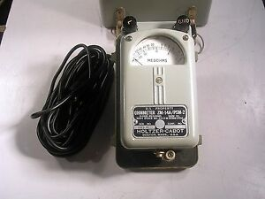 Vintage Holtzer cabot Ohmmeter Zm 14 psm 2 With Cables